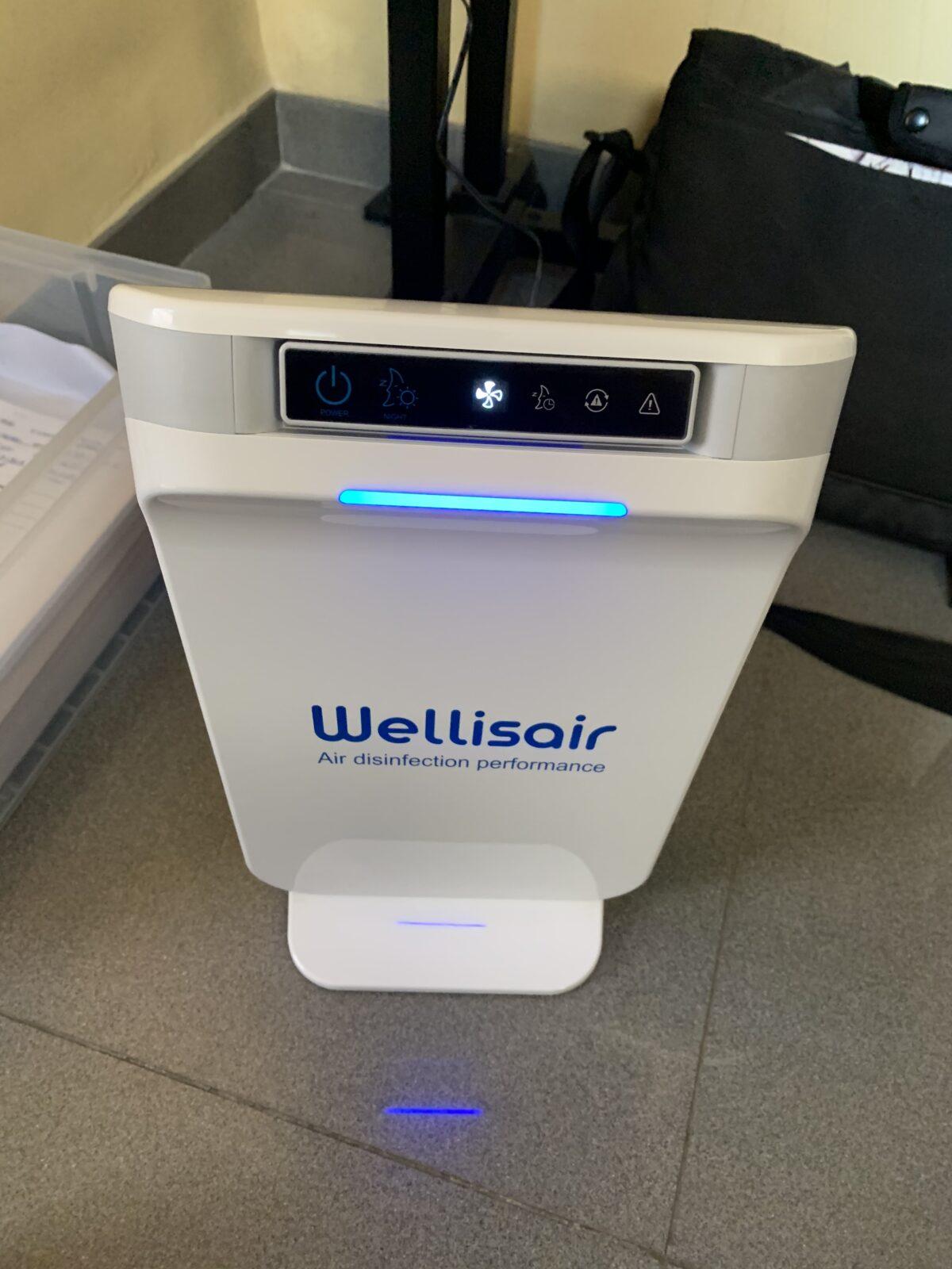 WELLISAIR desinfectante y purificador de aire y superficies